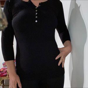 black dainty top